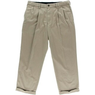 Dockers Mens Casual Pants Double Pleat Cuffed