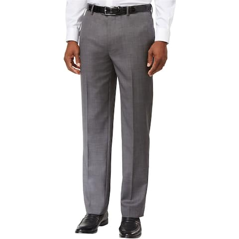 Tommy Hilfiger Mens Modern-Fit Dress Pants Slacks, Grey, 42W x 30L