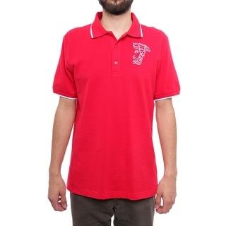 Versace Short Sleeve Collared Polo Men Regular Polo Shirt