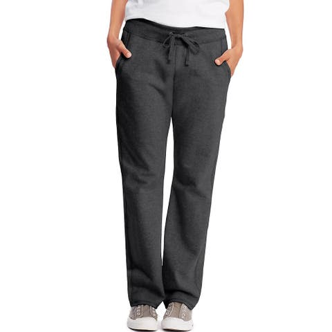 Hanes Women's French Terry Pocket Pant - Size - S - Color - Charcoal Heather
