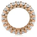 3.20 cttw. 14K Rose Gold Round Diamond Eternity Ring - Thumbnail 1