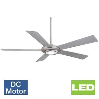 "MinkaAire Sabot 52"" 5 Blade DC Indoor Ceiling Fan with Integrated LED Light Kit and Remote Control"