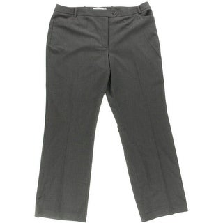 Calvin Klein Womens Pinstripe Modern Fit Dress Pants - 16