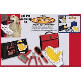Pet Store Pet Grooming 6 Piece Set in Red