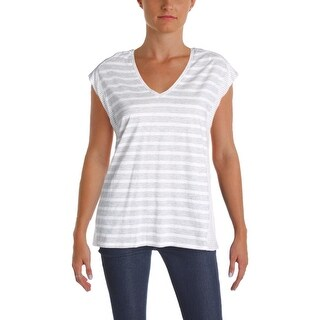 Two by Vince Camuto Womens Casual Top Cotton Striped