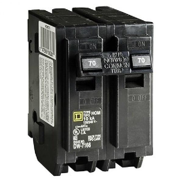 Shop Square D HOM270CP Homeline Miniature Double Pole Circuit Breaker 70 Amp