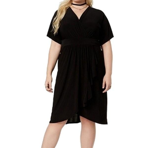 Love Squared Women's Plus Surplice Sheath Dress