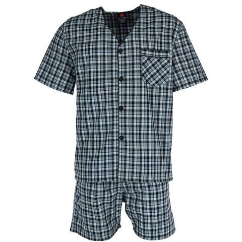 Hanes Big and Tall Short Sleeve Short Leg Pajama Set