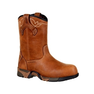 Rocky Work Boots Womens Full Grain Leather Aztec Outsole Brown