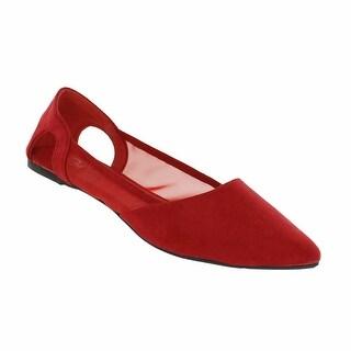 Red Circle Footwear 'Julie' Pointy Mesh Flat