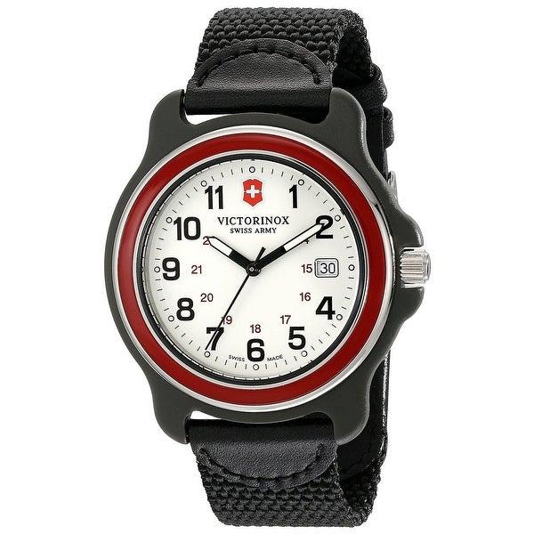 Victorinox Swiss Army Original XL 249085 Men's Red Bezel Black Nylon Strap Watch - 1 Size. Opens flyout.