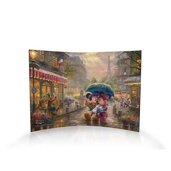Thomas Kinkade, Mickey U0026amp; Minnie In Paris   Curved Acrylic Print