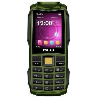 BLU Tank 2.4 F030 32MB Unlocked GSM Dual-SIM Phone w/ Dual 1W Super Flashlight