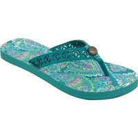 Western Chief Women's Elise Flip Flop Teal Paisley Synthetic