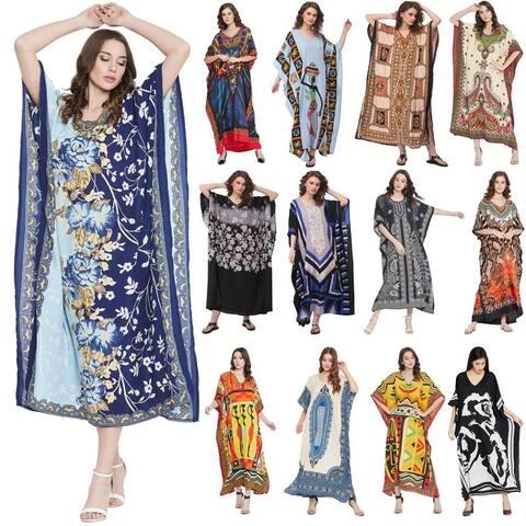 Women Plus Size Clothing Kaftan Hippy Boho Caftan Beach Dresses Long Maxi Dress