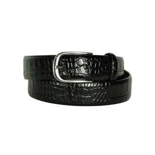Lauren by Ralph Lauren Women's Textured Lining Leather Belt