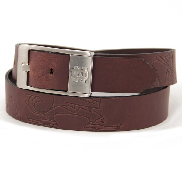 University of Notre Dame Brandish Leather Belt