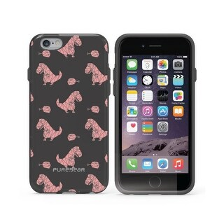 Puregear Motif Series Case for iPhone 6 Plus/6s Plus - Retail Packaging - Black/Pink Dinosaur