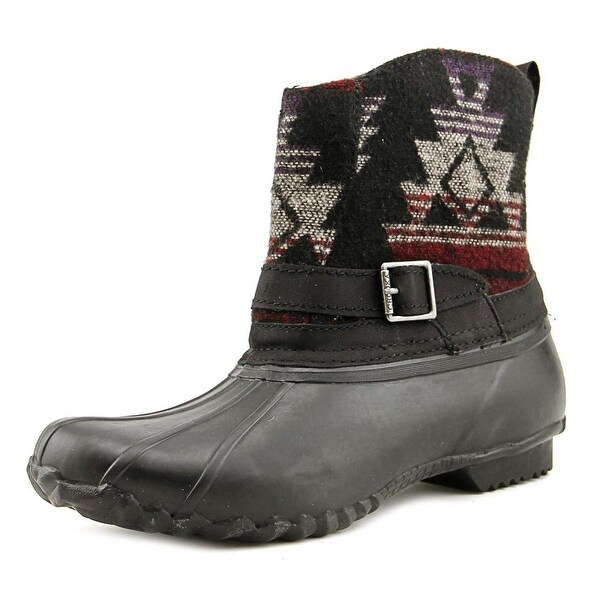 Chooka Step-In Duck Boot Heritage Women Black Snow Boots
