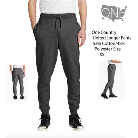 One Country Men's United Jogger Sweatpants Size XS