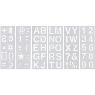 "Alphabet; Numbers & Symbols 2"" - Stencil Sheet Set 13""X4.5"" 6/Pkg"