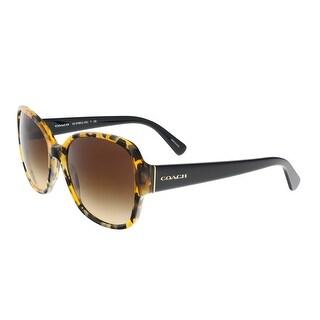 Coach HC8166 535913 Honey Mosaic/Black Square Sunglasses - honey mosaic/black - 58-18-135