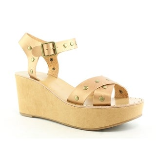 Chinese Laundry Womens Ozzie Burnished Gold Sandals Size 10