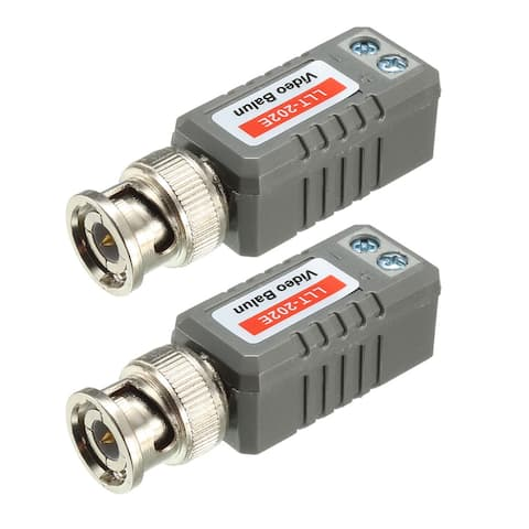 Video Balun Transceiver CCTV Camera Passive BNC Connector CAT5 LLT-202E , 2 Pcs