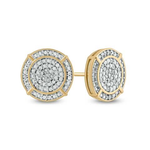 Cali Trove 1/4 Cttw Diamond Men'S Earring In Sterling Silver