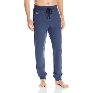 Lacoste NEW Blue Mens Size Small S Jogger Drawstring Sleepwear Pants