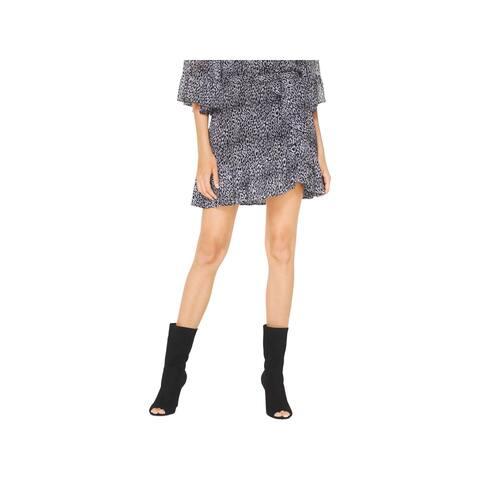 MICHAEL Michael Kors Womens A-Line Skirt Animal Print Ruffled