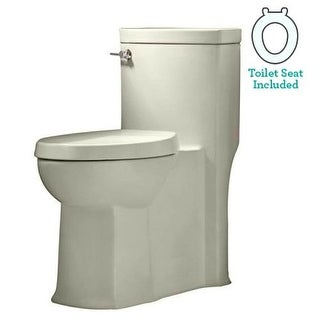American Standard 2891.128 Boulevard Elongated Luxury One-Piece Toilet with Concealed Trapway, EverClean Surface, PowerWash Rim