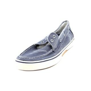 Sperry Top Sider Halyard 2 Eye Moc Toe Canvas Boat Shoe