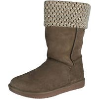 Skechers Women's Shelby's-Mid Rhinestone Snow Boot - taupe - 5.5 b(m) us