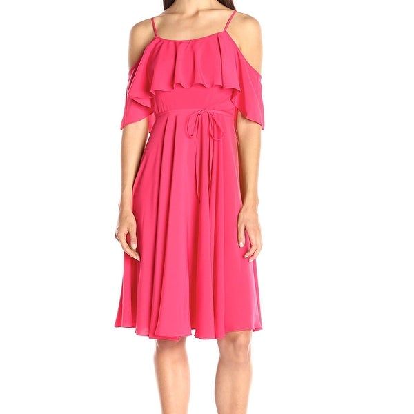 87ae7ac23f Shop CeCe By Cynthia Steffe NEW Pink Women s Size 2 Ruffled Sheath Dress -  Free Shipping On Orders Over  45 - Overstock.com - 18340019