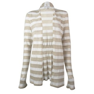 Charter Club Women's Striped Long Sleeve Cardigan Top - s