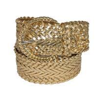 CTM® Women's 2 Inch Wide Adjustable Braided Belt