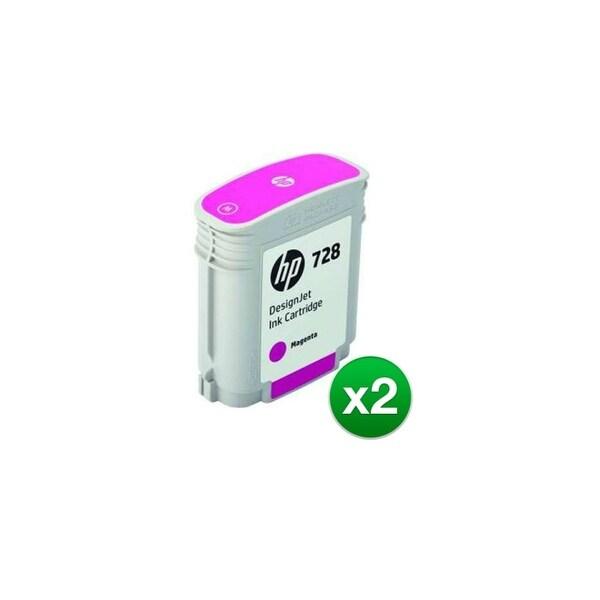 HP 728 Magenta DesignJet Ink Cartridge (F9J62A)(2-Pack)