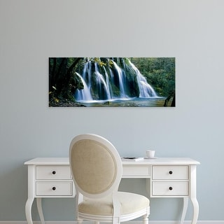 Easy Art Prints Panoramic Images's 'Waterfall in a forest, Jura, France' Premium Canvas Art