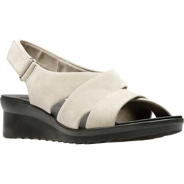 49eba0d2e387 Clarks Women  x27 s Caddell Petal Strappy Sandal Sand Synthetic Nubuck