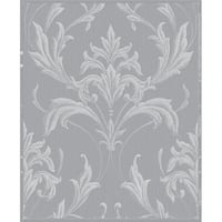 Graham and Brown 20-957 56 Square Foot - Oxford Silver and Grey - Non-Pasted Vinyl Wallpaper - N/A