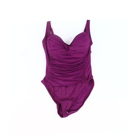 La Blanca Deep Purple Womens Size 8 Padded One-Piece Swimwear