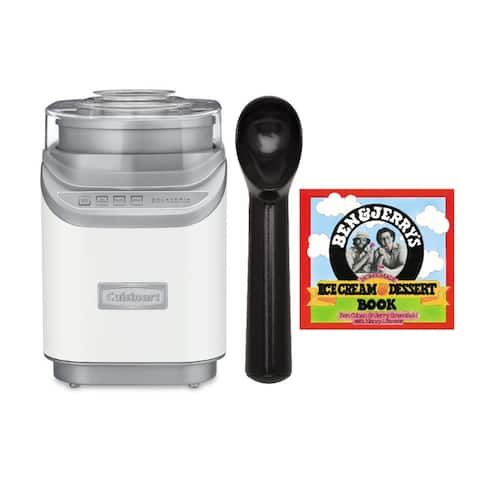 Cuisinart ICE60 Cool Creations Ice Cream Maker with Scoop Bundle