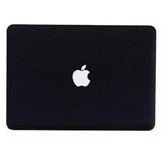 """AGPtek 3in1 Black Rubberized Hard case laptop shell for Macbook Pro 13 13.3"""" w/ Retina display A1425 +Keyboard Skin"""
