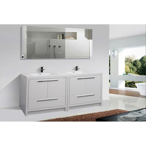 Alma Allier 59 inch Double Sink vanity with Integrated Sink