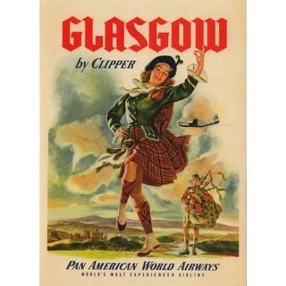 Marmont Hill Glasgow Card on Canvas Art Print on Premium Canvas