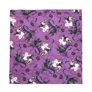 CTM® Glow in the Dark Witches and Ghosts Halloween Bandana - Purple - One Size