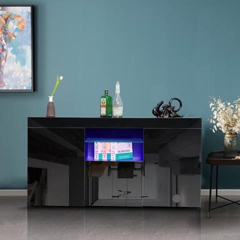 UV coated Modern Sideboard with Led light