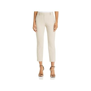 Theory Womens Treeca Ankle Pants Flat Front Straight Leg