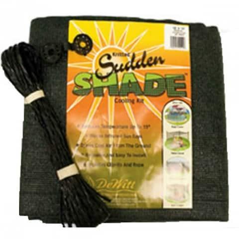 DeWittASSR12BLK Knitted Sudden Shade Polyethylene Cooling Kit, 12' x 12', Black